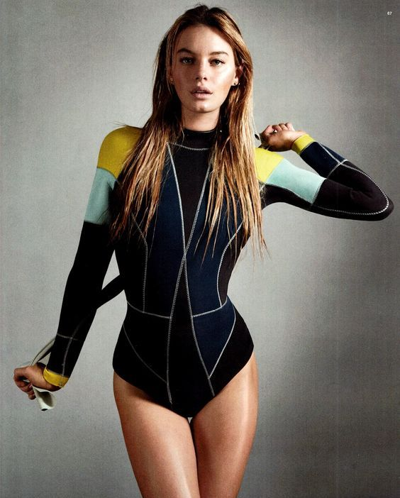 color bloack long sleeve swimsuit