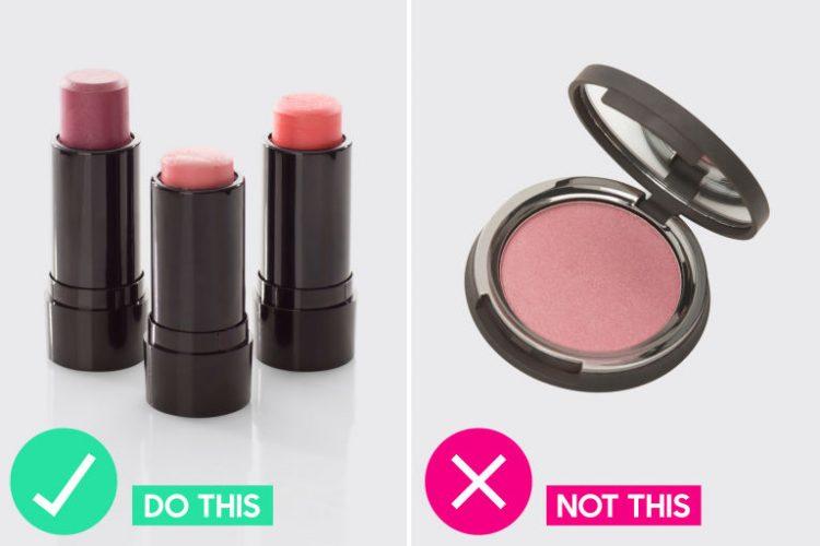 use cream or gel blushers