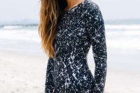 16 modest printed long sleeve swimsuit
