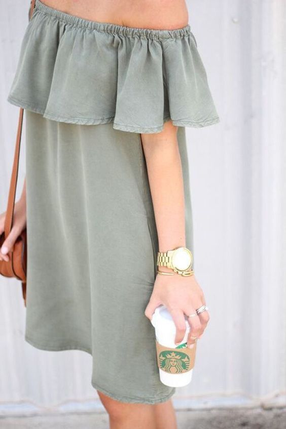 simple off the shoulder dress