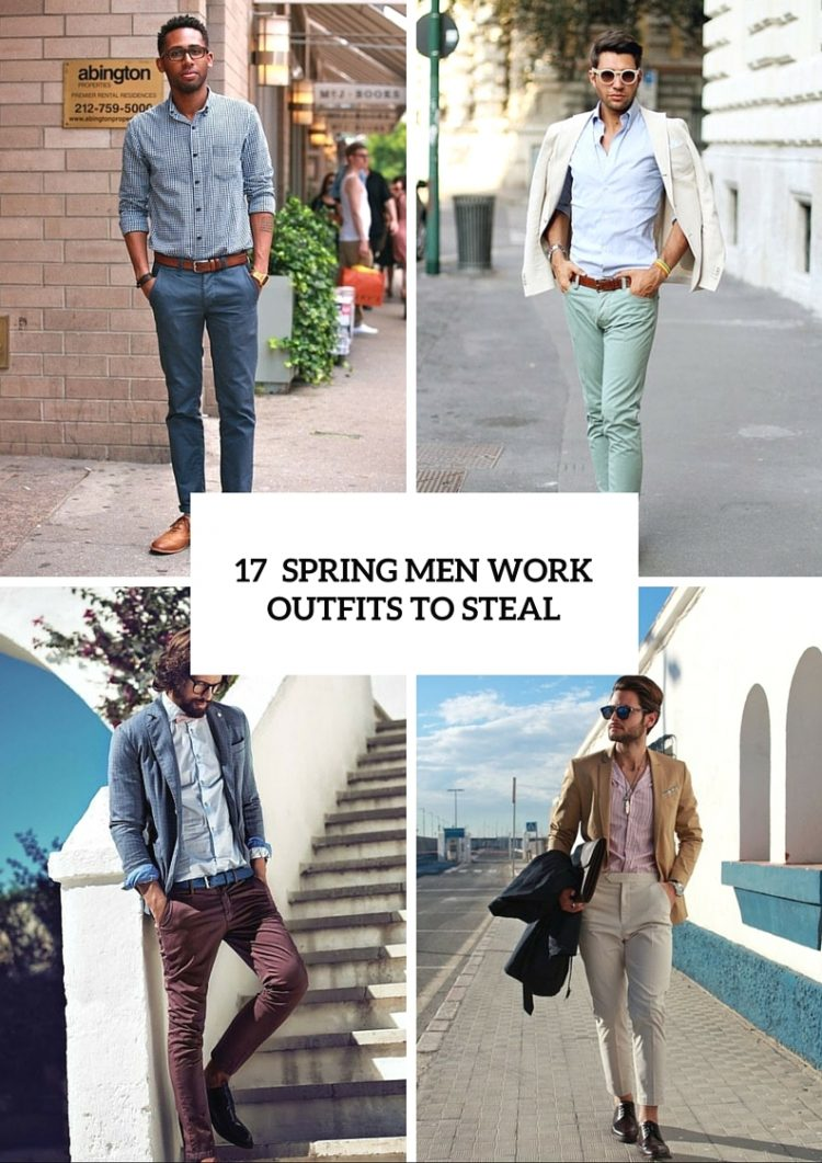 17 Stylish Spring Men Work Outfits Ideas Worth To Steal