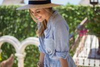 21 Outfit Ideas With Straw Hats For Summer 6