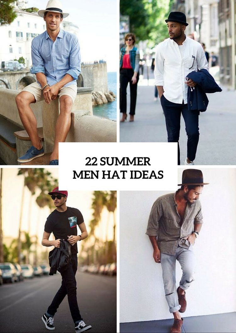 22 Cool Men s Summer Hat Ideas - Styleoholic 6f200af83f3
