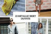 23 Trendy Metallic Skirt Outfits You'll Love