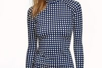 24 polka dot long sleeved swimsuit
