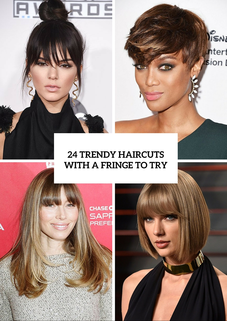 24 trendy haircuts with a fringe to try