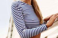27 striped long sleeved bikini