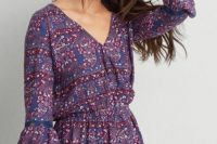 Bell sleeve romper with hat