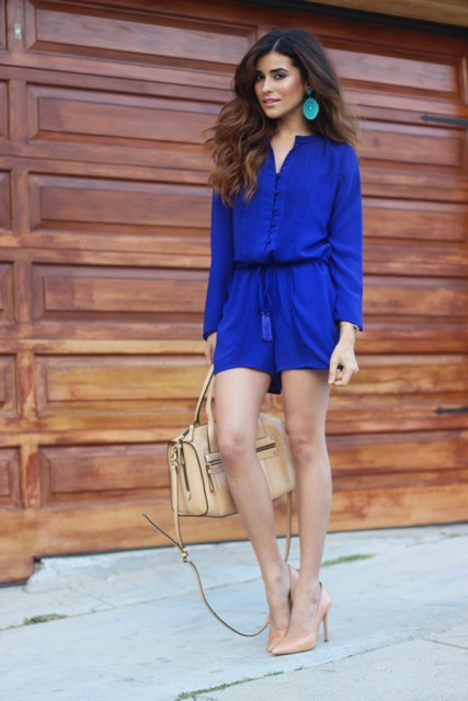 Bright romper casual look