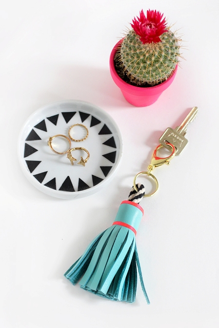 Picture Of Cute DIY Leather Tassel Keychain 2