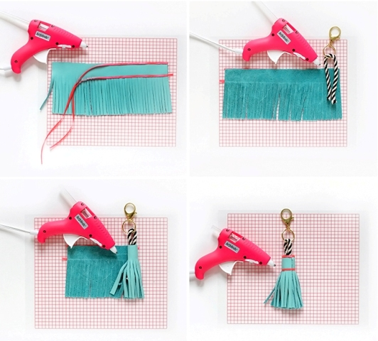 Picture Of Cute DIY Leather Tassel Keychain 5