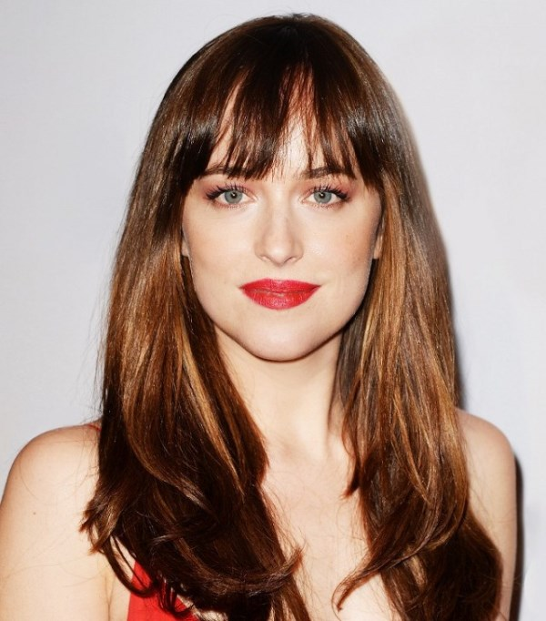 Dakota Johnson's Wispy Fringe