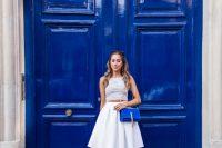 Dazzling Blue YSL Cross-Body Bag