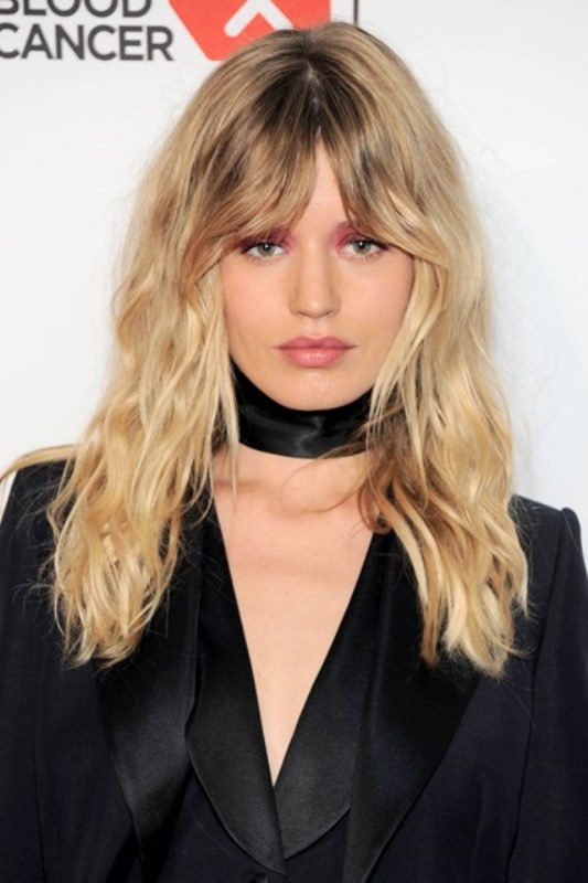 Georgia May Jagger's Wavy Fringe
