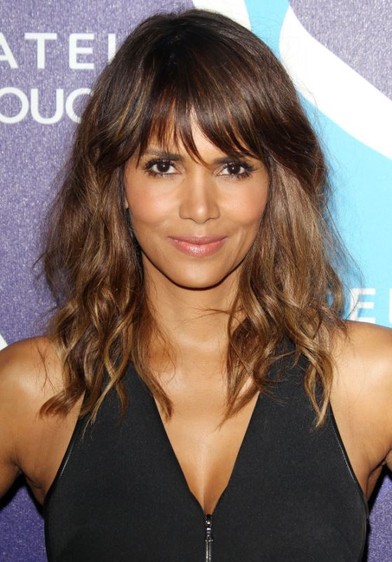 Halle Berry's Tousled Hair And A Fringe