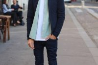 Layered Look With Rolled Up Jeans