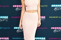 Light Pink Co-Ords – A Crop Top + A Pencil Skirt