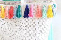 Lovely DIY Pastel Tassel Beach Bag 3