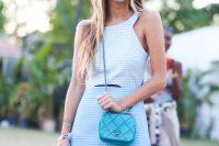 Mini Turquoise Chanel Cross-Body Bag