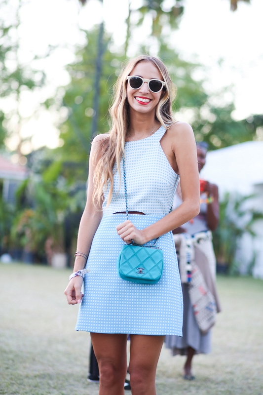 Mini Turquoise Chanel Cross-Body Bag