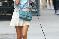 Romantic Blue Cross-Body Bag