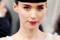 Rooney Mara's Structured And Polished Bangs
