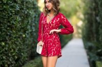 Sexy outfit with eye-catching romper and high heels