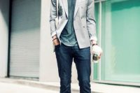Skinny Jeans With Sneakers, A Tee And A Stylish Blazer