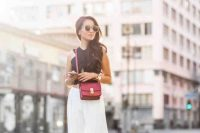 Statement Burgundy Cross-Body Bag