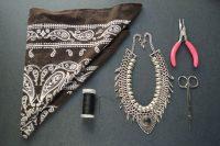 Stunning DIY Bandanna Metal Necklace 2