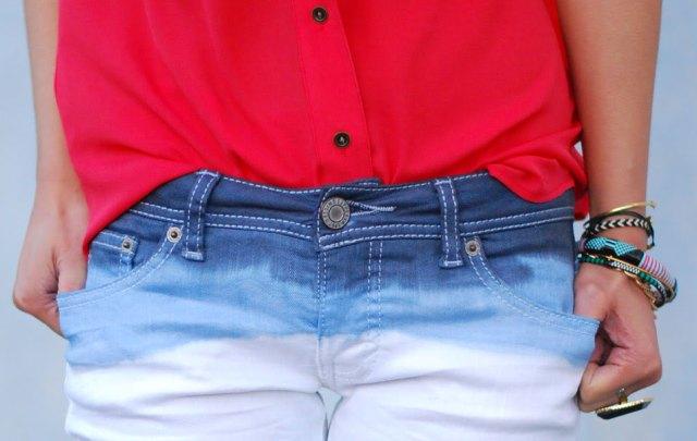 Stylish DIY Dye Ombre White Jeans