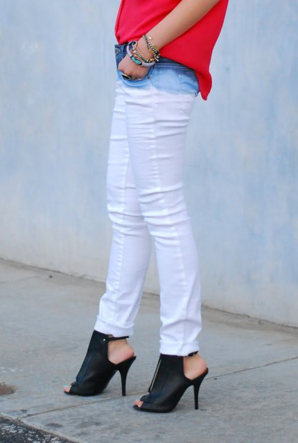 Stylish DIY Dye Ombre White Jeans
