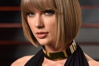 Taylor Swift's Structured Bob And A Fringe