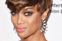 Tyra Banks's Short And Layered Fringe Haircut