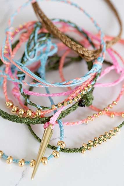 DIY Braided Bracelets With Beads For Summer