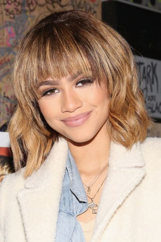 Zendaya's Textured Shag And A Bang