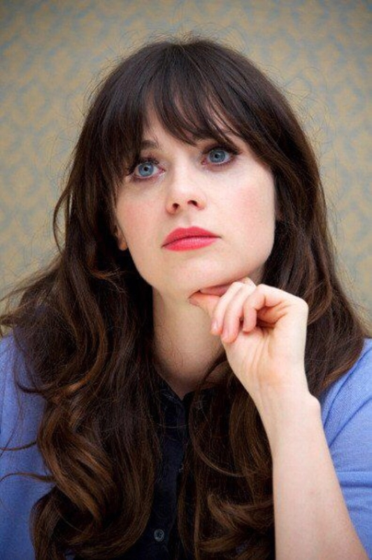 Zooey Deschanel's Iconic Fringe