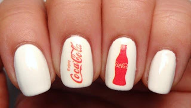 Cheerful Diy Coca Cola Nail Art For Summer