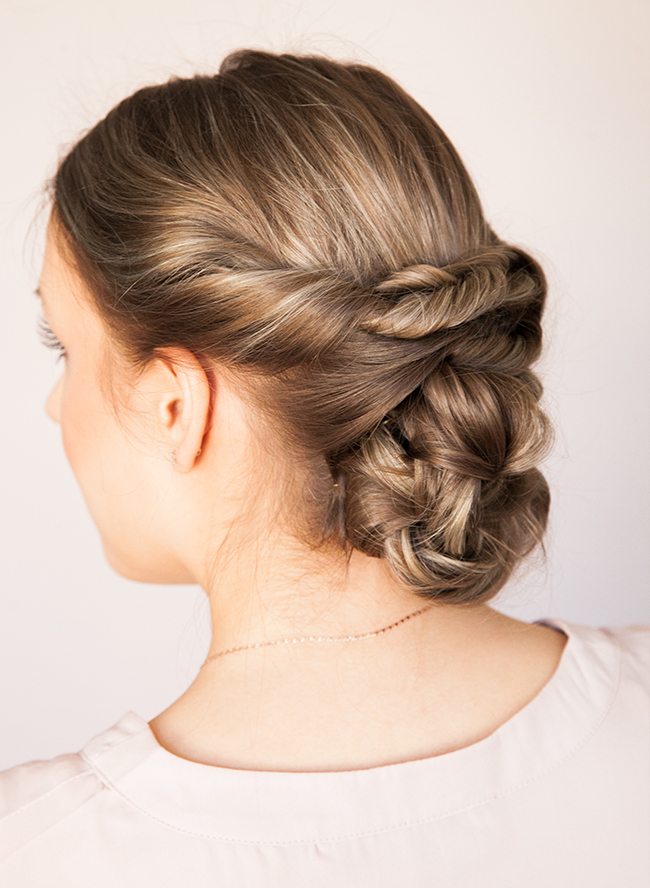 Chic DIY Braided Updo For Formal Events