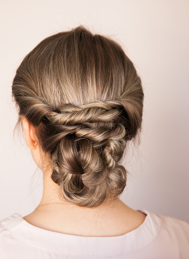 Picture Of chic diy braided updo for formal events  5