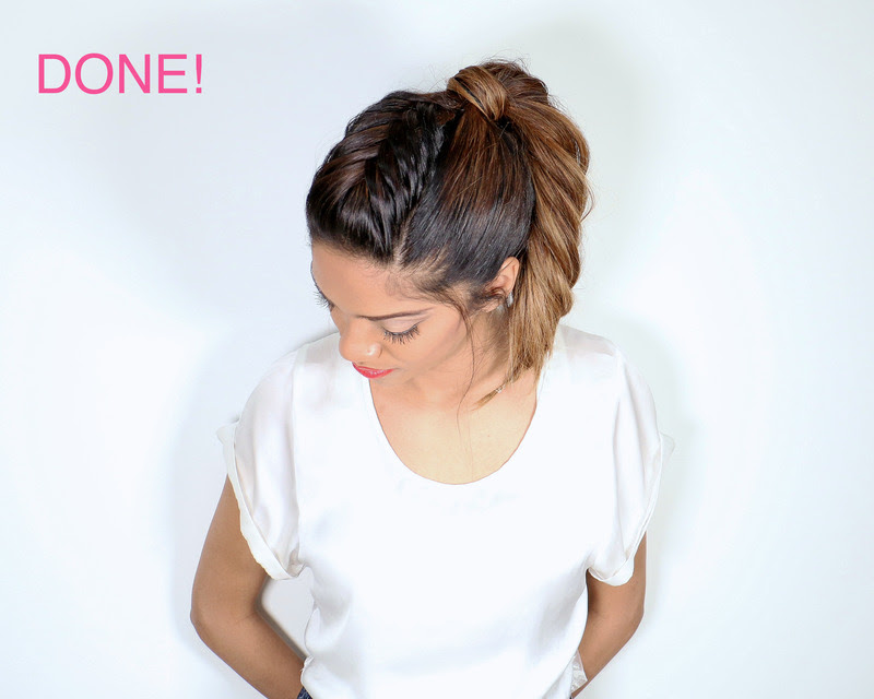 Picture Of cool diy fishtail braid ponytail to make yourself  10