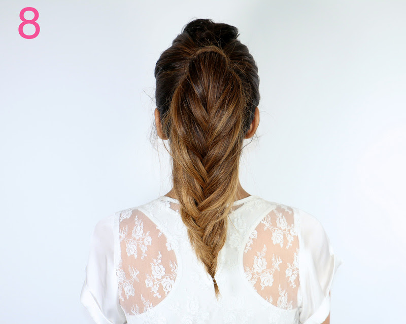 Picture Of cool diy fishtail braid ponytail to make yourself  9