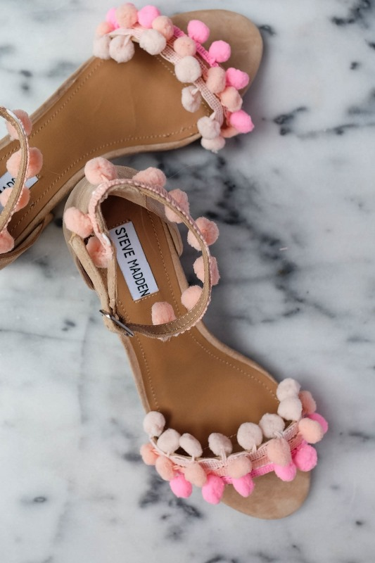 Picture Of fancy diy aquazzura inspired pom pom sandals summer  1