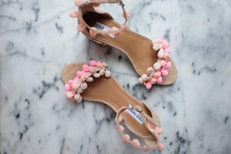 Picture Of fancy diy aquazzura inspired pom pom sandals summer  2