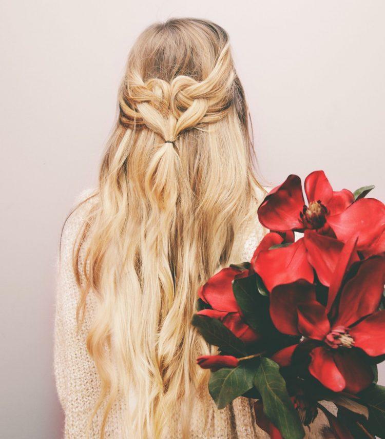 Romantic DIY Heart Shaped Half-Up Hairdo To Try