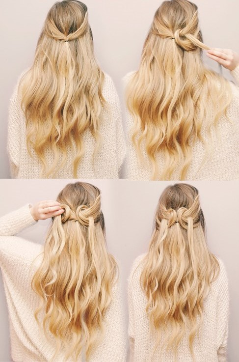 Romantic DIY Heart Shaped Half Up Hairdo To Try