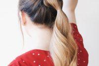 Stylish And Easy DIY Pull Through Braid step 3