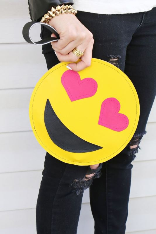 Super Fun DIY Emoji Clutch To Make