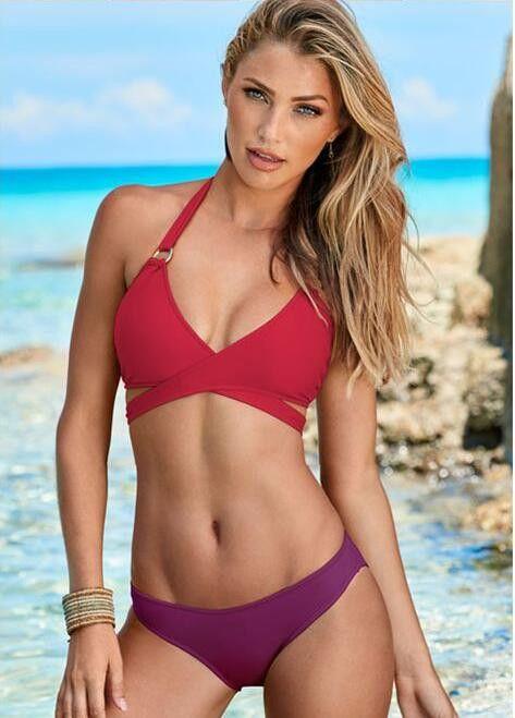 two color bandage bikini