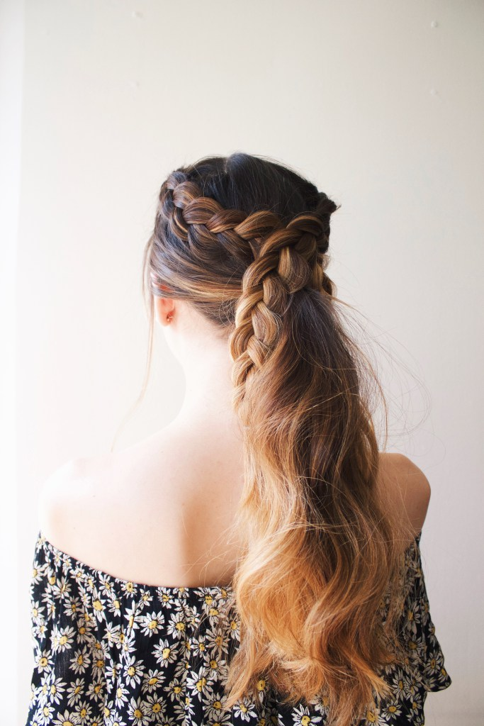 Very Cute DIY Simple Braided Ponytail